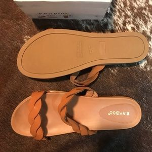 Bamboo brown sandals. Size 10. Brand New in Box.